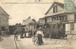 35 - CHATEAUGIRON L'arrivée Du Tramway Au Bas Noyal - Châteaugiron