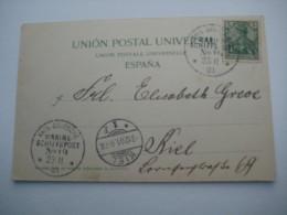 1901 , Marineschiffpost Nr. 19 , Klarer Stempel Auf Karte Aus  Teneriffa - Deutschland