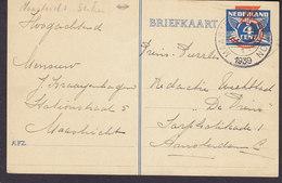 Netherlands Postal Stationery Ganzsache 3/4 C. Provisorium MAASTRICHT STATION 1939 AMSTERDAM C. (2 Scans) - Postal Stationery