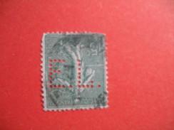 Perforé  Perfin  Référence Ancoper France  :    EL100 - Perfin