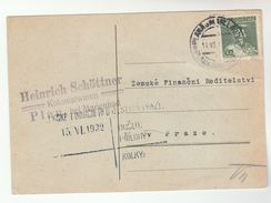1932 CZECHOSLOVAKIA Stamps COVER (card) - Covers & Documents