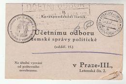 1927 ROCHLICE  Sigillum Ecclesiae Par S Joannis  Mail Card CZECHOSLOVAKIA  Cover - Czechoslovakia
