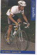 LUC LEBLANC  CHAMPION DU MONDE   SERIE SPRINT 2005  N° 58 - Cyclisme
