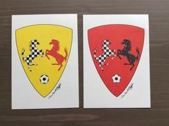 Coppia Di Cartoline Ufficiali Trofeo E. Ferrari Con Annullo Torneo Int.le Giov. Di Calcio Maranello 17-4-1995 - Grand Prix / F1