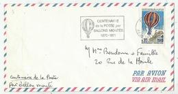Centenaire De La Poste Par Ballons Montés - 1871 -1971 - Avions
