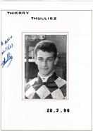 Autographe De Thierry Thulliez  1996 - Autographes