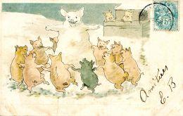 N°31593 -cpa Illustrateur -cochons- - Cochons