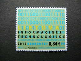 Information Technologies # Lithuania Litauen Lituanie Lietuva Litouwen # 2015 MNH # Mi.1200 - Lithuania