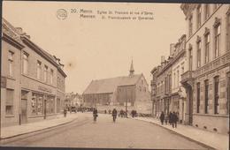 Menen Menin St Sint Franciscuskerk En Ieperstraat Yperstraat Francois Et Rue D' Ypres West-Vlaanderen Meenen - Menen