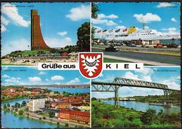 Germany Kiel 1965 / Grusse / Monument, Port, Canal, Bridge, Ship - Kiel