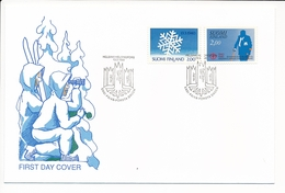 Mi 1104-05 FDC Continuation War 50th Anniversary Disabled's Brotherhood Military Veterans - 13 March 1990 - Finlande
