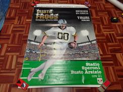 BUSTO ARSIZIO FROGS VS TAURI TORINO MANIFESTO ORIGINALE '80 FOOTBALL AMERICANO - Sport