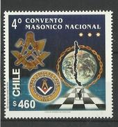 CHILE  2000  NATIONAL  MASONIC CONVENTION MNH - Chili