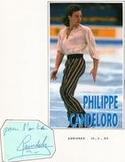 Autographe De  Philippe  Candeloro  1995 - Autographes