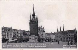 Kortrijk, Het Belfort, Standbeeld Der Gesneuvelden En 't Stadhuis (pk31924) - Kortrijk