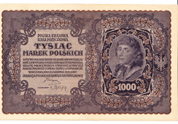 3 Billets Polonais 1000 Marek Type Koscivszko 23 Aout 1919 - Polonia