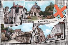 LANGRES STATUE DE DIDEROT PORTE DES MOULINS LES REMPARTS RUE DIDEROT - Langres