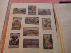 20 Poster Stamp Advertising Litho SCHWEIZ Suisse Switserland Weltpostdenkmal Very Good Condition - Cinderellas