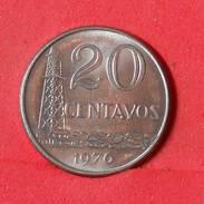 BRAZIL 20 CENTAVOS 1976 -    KM# 579,1a - (Nº17367) - Brazilië