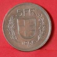 SWITERZERLAND 5 FRANCS 1968 -    KM# 40a,1 - (Nº17376) - Switzerland