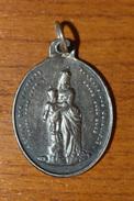 """Pendentif Médaille Religieuse Argent 925 Fin XIXe """"Archiconfrèrie Notre-Dame Des Victoires Paris"""" Silver Religious Medal - Religión & Esoterismo"""