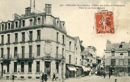 Thouars L'hotel Des Postes Et Telegraphes Place Et Rue Saint Medard - Thouars