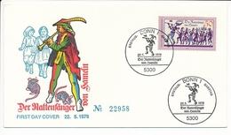 Mi 972 FDC Legend Pied Piper Of Hamelin Rat-Catcher Fairytale - 22 May 1978 - [7] Federal Republic