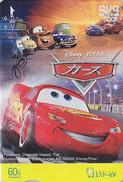 Carte Prépayée Japon DISNEY - Cinéma Film Dessin Animé - CARS - Japan Quo Movie Card Voiture Car Auto - Disney