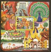 2016 India Vibrant India, Buddha, Taj Mahal, Colours S/S MNH ** - India