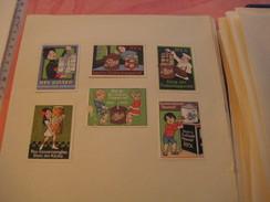 6 Poster Stamp Advertising REX Einkochapparat Conservenglas  DREYER Dreyers's   Litho ART Very Good - Usines & Industries
