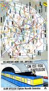 """PUBLICITE   L 60  """"    AFFELOU  /  PLAN DU METRO DE PARIS - Publicité"""