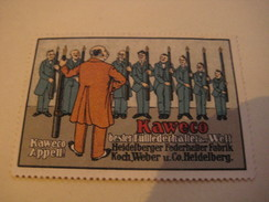 5 Poster Stamp Advertising KAWECO KO-MIO FULLBLEISTIFT FULLFEDERHALTER Koch Weber Heidelberg  Litho ART - Erinnophilie