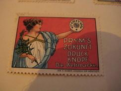7 Poster Stamp Advertising PRYM Druck Knope HUBER DIESSEN Vor MUNCHEN  Litho ART - Erinnofilie