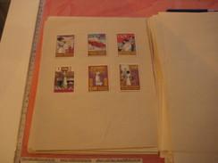 6 Poster Stamp Advertising LUX Waschmittel PUTZmittel VIM  Litho ART Putzt Alles - Cinderellas