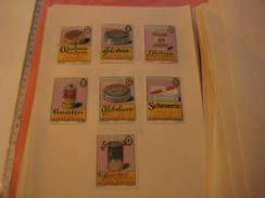 7 Poster Stamp Advertising Litho GLOBUS Putz Extrakt GLOBIN GEOLIN Fritz Schultz Leipzich - All Packings GLOBOL - Cinderellas