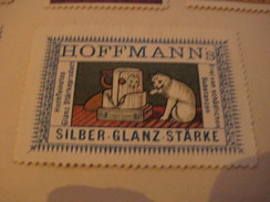 7 Poster Stamp Advertising Litho Hoffmann STARKE Cat Silber Glanz Reis Stärke Litho ART - Erinnophilie