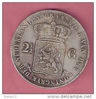 NEDERLAND 2 1/2 GULDEN 1848 WILLEM II RESTRIKE NOT ORIGINAL - [ 3] 1815-… : Royaume Des Pays-Bas
