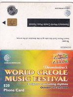 DOMINICA(chip) - World Creole Music Festival 2000, Chip GEM6a, Used - Dominica
