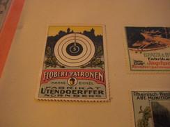 5 Poster Stamp Advertising Litho Munitions Fabrik Jagdpatronen ADLER Braun Bloem UTENDORFER Bram DUSSELDORF  Sprengstoff - Cinderellas