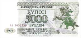 Transnistria - Pick 24 - 5000 Rublei 1993 - Unc - Banconote