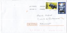 FRANCIA - France - 2011 - Bugatti + De Funes - Viaggiata Da 38909A Per Breuillet, France - Francia