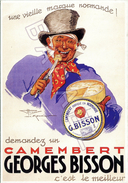Affiche Sur Carte Postale - Camembert Georges Bisson (Cliché BN Paris) - Publicité