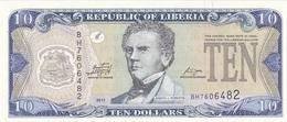 Liberia 10 Dollars 2011 - UNC - Liberia
