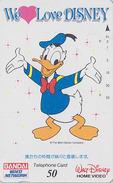 Télécarte Japon / 110-011 - WE LOVE DISNEY / DONALD DUCK ** Série HOME VIDEO BANDAI ** - Japan Phonecard - Disney