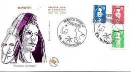 MAYOTTE  MAMOUDZOU  Marianne De Briat  3,80 Frs  Timbre à Valeur Permanente 2,70  2/01/97 - Mayotte (1892-2011)