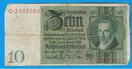 ALEMANIA - GERMANY - 10 Reichmark 1929 MBC  P-180 - [ 3] 1918-1933 : República De Weimar