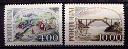 PORTUGAL # 1348-1349. Centenary Of Railroad Expansion Across Douro Bridge. MNH (**) - Unused Stamps