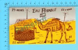 QSL- CB-  Base Eau Potable, Chameau, Dromadaire - Ste-Julie Quebec- 2 Scans - CB