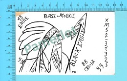 QSL- CB- Mobile Base Black Eagle, Chef Indien  - Ste-Clotilde Cte Chateauguay  Quebec- 2 Scans - CB