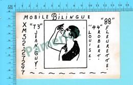 QSL- CB- Mobile Bilingue   - Montreal  Quebec- 2 Scans - CB